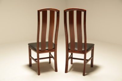 Set of 8 Danish Rosewood Dining Chairs by Skovby