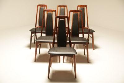 Rosewood Eva Dining Chairs by Niels Koefoed