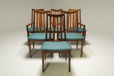 Set of 6 Teak Dining Chairs by Leslie Dandy for G Plan vintage dining chairs Dublin Ireland