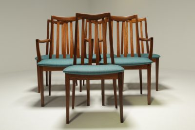 Set of 6 Teak Dining Chairs by Leslie Dandy for G Plan retro dining chairs Dublin