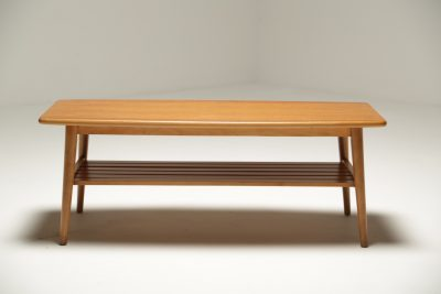 Teak Surfboard Coffee Table vintage furniture warehouse Lusk