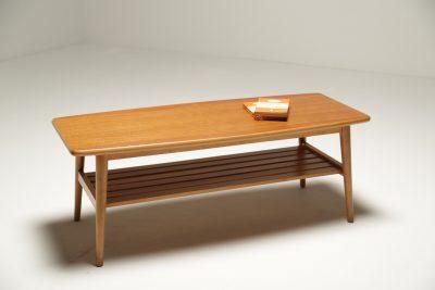 Teak Surfboard Coffee Table mid-century coffee table