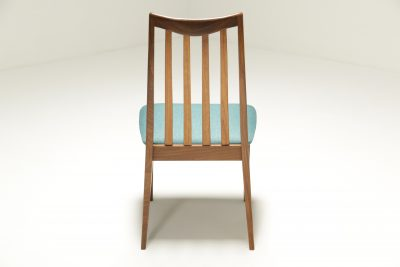 Set of 6 Teak Dining Chairs by Leslie Dandy