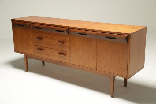 Vintage Teak Sideboard with Faceted Drawers retro sideboard Dublin Ireland
