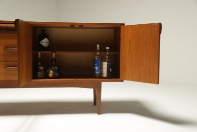 Teak Sideboard with Faceted Drawers