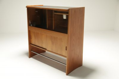 Danish Teak Cocktail Bar by Poul Heltborg vintage mid-century bar cabinet