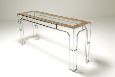 Milo Baughman style Console Table mid-century console table
