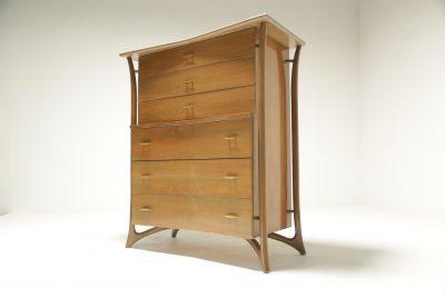 Mid-century American 6 drawer tallboy vintage furniture Dublin Ireland