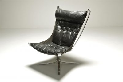 Chrome Falcon Chair by Sigurd Ressell