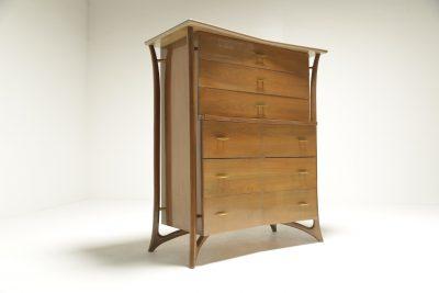 Mid-century American 6 drawer tallboy The Vintage Hub