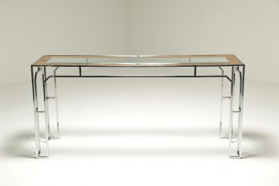 Mid-century Milo Baughman style Console Table