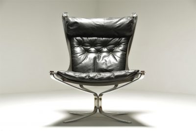 Chrome Falcon Chair vintage furniture Dublin Irelandby Sigurd Ressell