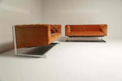 Pair of Mid-century Milo Baughman Cantilever Sofas