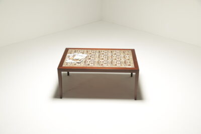 Rosewood Coffee Table with Baca Tiles by Severin Hansen