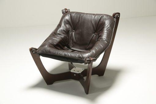 Luna Chair by Odd Knutsen for Hjellegjerde mid-century lounge chair