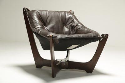 Luna Chair by Odd Knutsen for Hjellegjerde vintage lounge chair