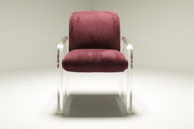 Charles Hollis Jones style Lucite Armchair the vintage hub