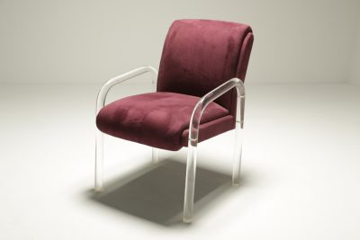 Charles Hollis Jones style Lucite Armchair
