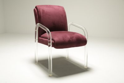 Charles Hollis Jones style Lucite Armchair mid-century perspex chair