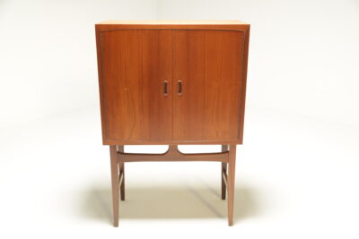 Danish Teak Bar Cabinet with internal light mid-century cocktail cabinet